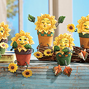 Collectible Sunflower Shelf Sitters - Set of 5 - 96464