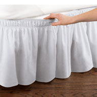 Elastic Bed Wrap Ruffle Bed Skirt