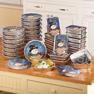 Christmas Snowman Foil Treat Containers - 36 pc - 96920