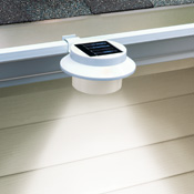 White Clip-on Gutter Solar Security Light - 97049