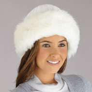 Faux Fur Trimmed Winter Fashion Hat