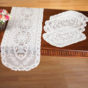 Kitchen Table Lace Runner & Placemats - 5 pc - 97153