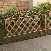 Lattice Look Garden Borders - Set of 4