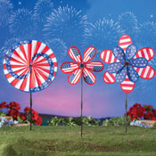 Patriotic Americana Wind Spinners - Set of 3 - 97431