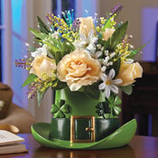 Fiber Optic St. Patrick's Day Floral Centerpiece - 97465