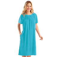 Comfort Fit Short Sleeve Terry Dress