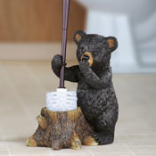 Woodland Bear Toilet Brush Holder - 98304