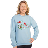 Embroidered Winter Cardinal Sweatshirt - 98355