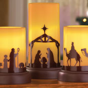 LED Flameless Nativity Candles - Set of 3 - 98461