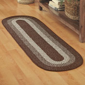 Extra Long Skid-Resistant Braided Floor Runner - 98532