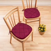 Quilted Memory Foam Chair Pads - Set of 2 - 98757