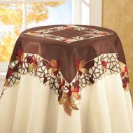 Embroidered Autumn Leaves Table Linens - 98762