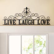 Scrolling Live Laugh Love Metal Wall Art - 98774