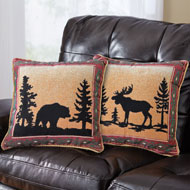 Reversible Northwoods Lodge Throw Pillow - 98796