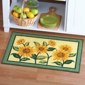 Sunflower Floral Woven Accent Rug - 98919