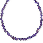 Non-Metal Amethyst Nugget Necklace - A0728