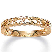Band of Hearts 14K Gold-Plated Ring