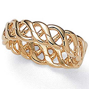 Braided Band 14k Gold-Plated Ring - A1491