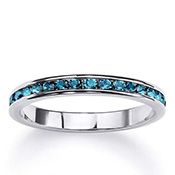 Birthstone Sterling Silver Eternity Band - A1517