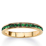 Birthstone 14k Gold-plated Eternity Band - A1533