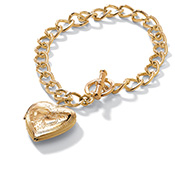 Heart Shape Locket Charm Bracelet Jewelry - A1708