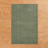 Leaf Pattern Textured Rug - A1955