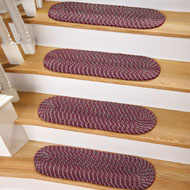 Braided Stair Treads w/ Skid-Resistant Backing - Set of 4 - A1959