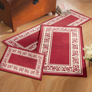 Floral Border 3pc Accent Rug Set - A1962