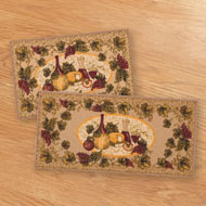 Chainti Wine Theme 2pc Kitchen Rug Set - A1973