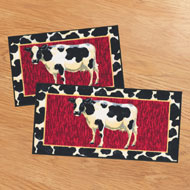 Cow 2 pc Kitchen Rug Set - A1974