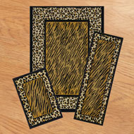 Safari Leopard Print Rugs - Set of 3 - A1993