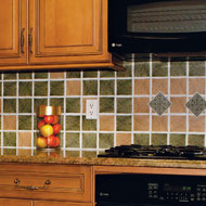 Faux Marble Stone Backsplash Wall Tile - A1998
