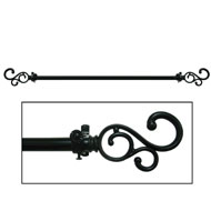Medley Classic Scroll Curtain Rod Set - A2012