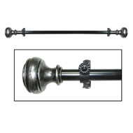 Bradford Antique Silver Curtain Rod Set - A2013