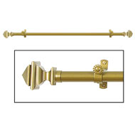 Bach Elegant Gold Curtain Rod Set - A2014