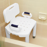Premium Shower Chair with Back and Handles - A2050