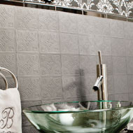 Metallo Silver Backsplash Wall Tiles - A2070