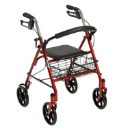 Durable 4 Wheel Deluxe Rollator - A2081