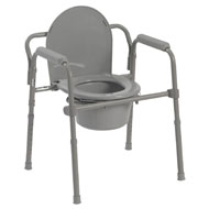 Folding Steel Commode Seat