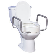 Raised Toilet Seat with Removable Handles - A2089