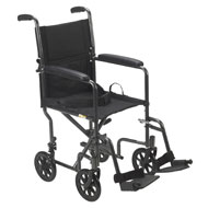 Foldable Steel Transport Chair - A2091