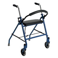 Two Wheeled Walker with Padded Seat - A2092