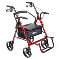 Duet Rollator Transport Wheelchair - Drive Medical - A2101