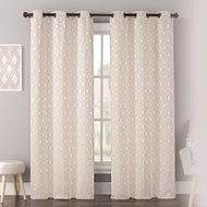 Mystique Printed Curtain Panel Set - A2104