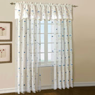 Loretta Embroidered Curtain Panel - A2112