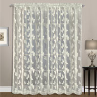 Madame Butterfly Lace Curtain Panel - A2113