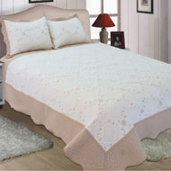 Reversible Dover Embroidered Quilt Set - A2118