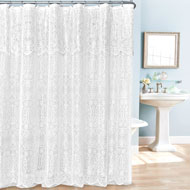 Lace Shower Curtain with Valance - A2128