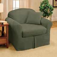 Suede Stretch Slipcover - 2pc - A2129