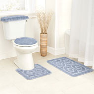 Bathroom Diamond Rug Set - 4pc - A2138